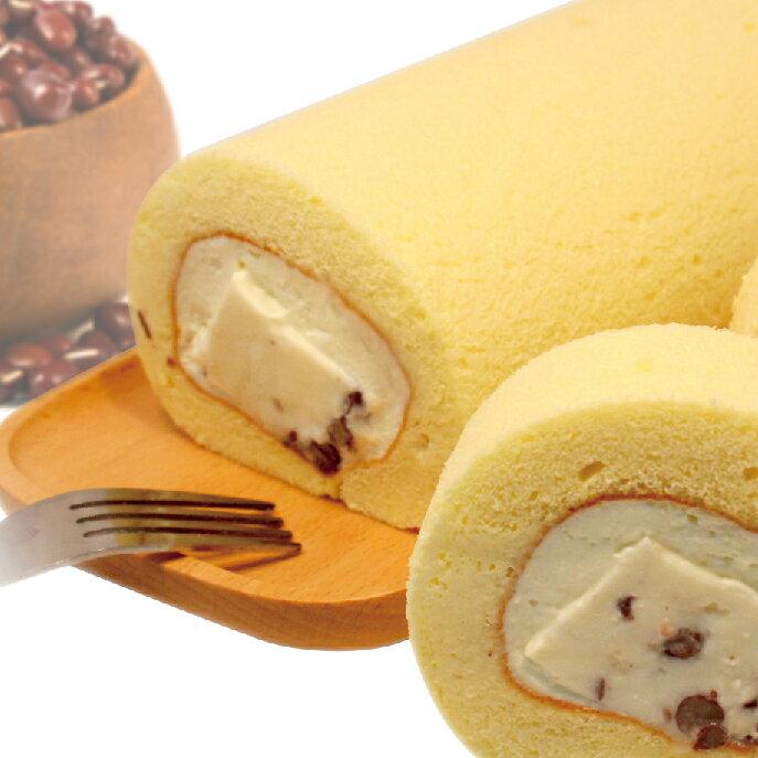 【麵包空間】紅豆奶凍捲 (19CM 大份量 適合3-4人享用)