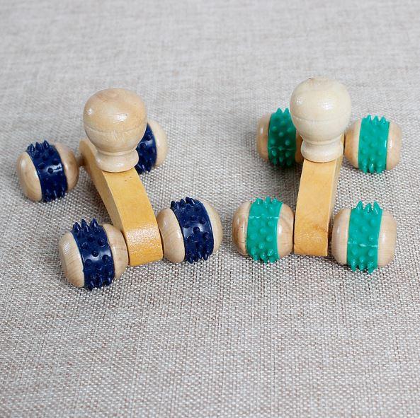 【省錢博士】木製四輪按摩器 / 背部按摩器