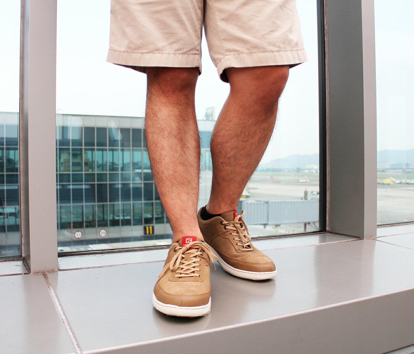 【KILDARE 85折】KILDARE 綁帶休閒鞋 淺咖啡 男 慢跑休閒 2