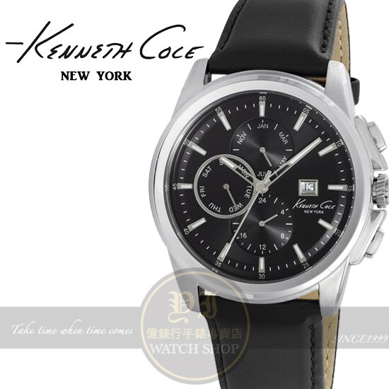 Kenneth Cole國際品牌紳士風采日曆腕錶KC10025919公司貨/設計師/禮物/精品