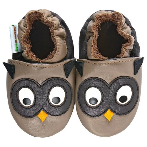 Night Owl Momo Baby Boys Soft Sole Leather Shoes