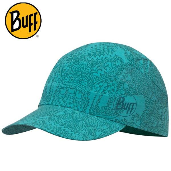 Buff可捲收健行帽高防曬抗UV軟式摺疊帽路跑馬拉松健行登山117223碧玉青藍