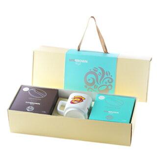 伯朗臻品禮盒-隨享版(三合一咖啡+馬克杯)