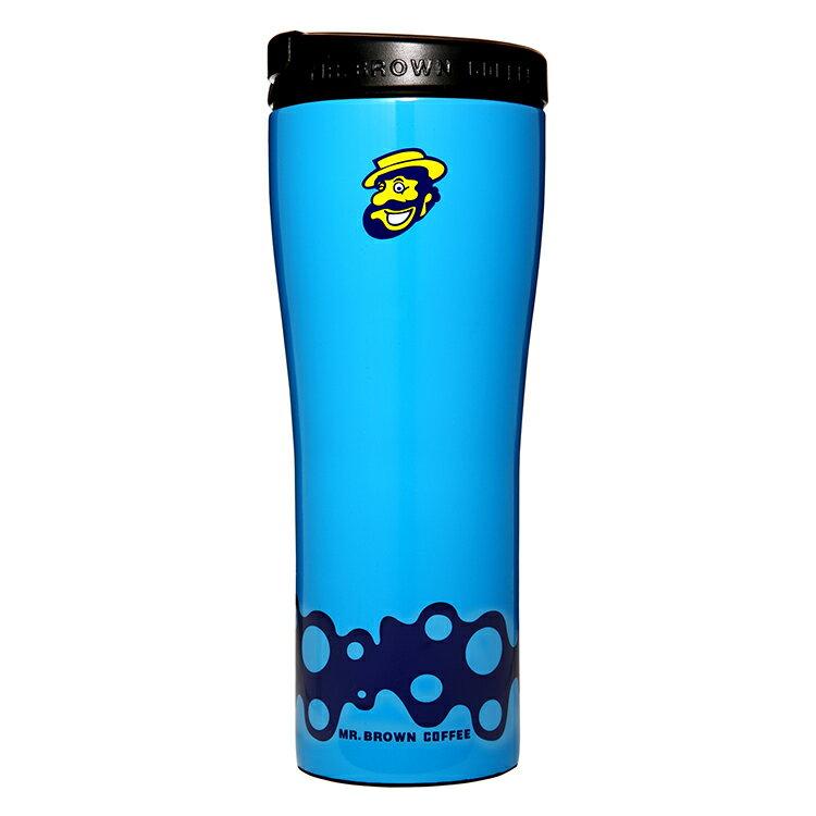 伯朗Lounge不鏽鋼杯-雙層真空隔熱-幾何版(炫藍)-0.5L