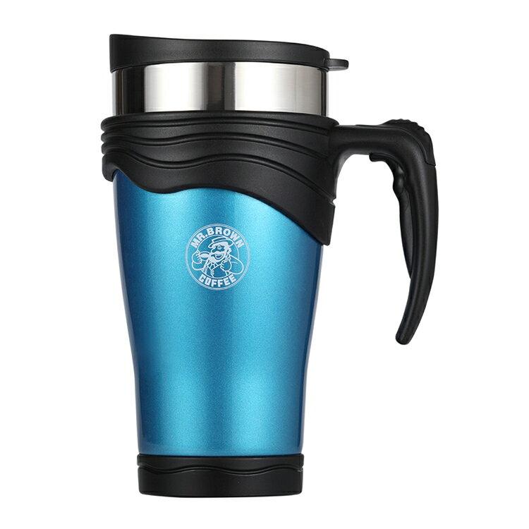 伯朗Lounge不鏽鋼杯-雙層真空隔熱-海水藍-0.5L