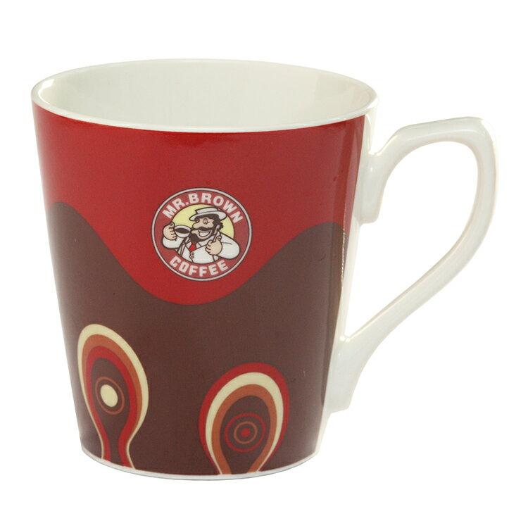 伯朗圖騰馬克杯-美式咖啡色