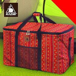 【【蘋果戶外】】KAZMI K5T3B001 經典民族風裝備收納袋(120l) 紅 保護袋/提袋/防塵袋/大型工具袋/裝備袋/收納箱