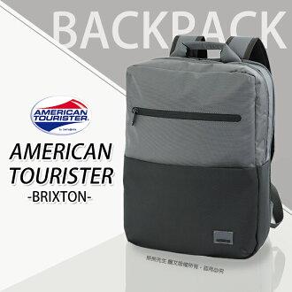 《熊熊先生》新秀麗Samsonite美國旅行者 筆電後背包雙肩包 15.6吋 行李箱拉桿插帶 混色輕時尚