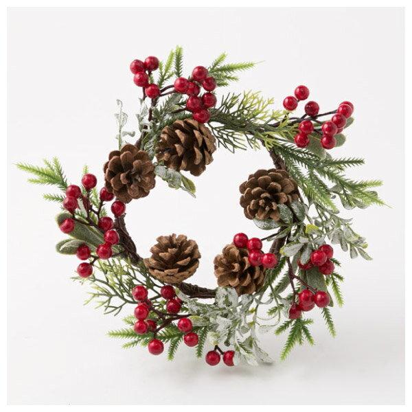 聖誕裝飾花圈 25cm RED RH02-17911 NITORI宜得利家居 0