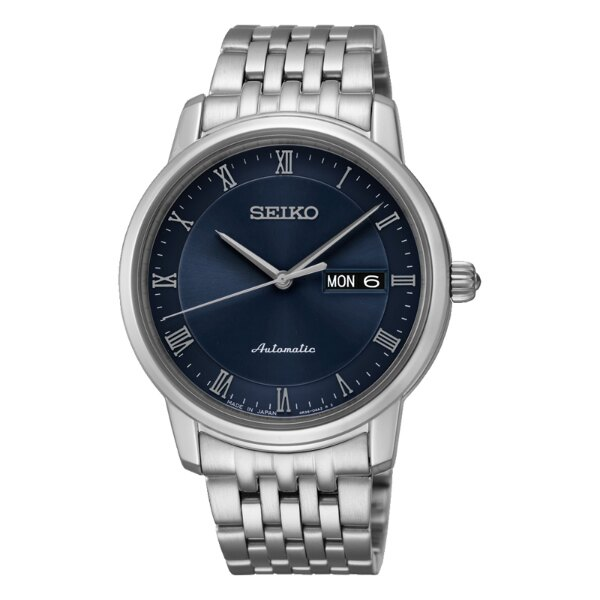 Seiko Presage 4R36-04L0B(SRP697J1)限量經典羅馬雙日曆機械腕錶/藍面40mm