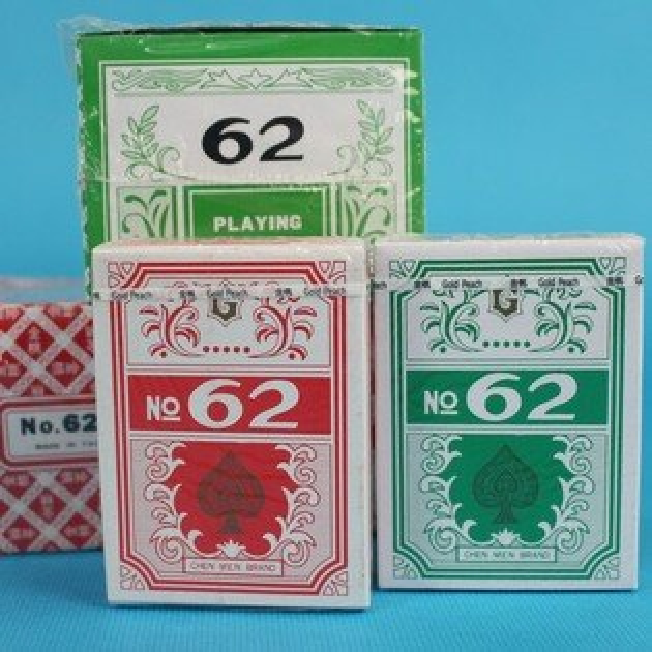 金桃撲克牌大62撲克牌標準樸克牌~MIT製一件24支入(一支12副)共288副入{定35}~來