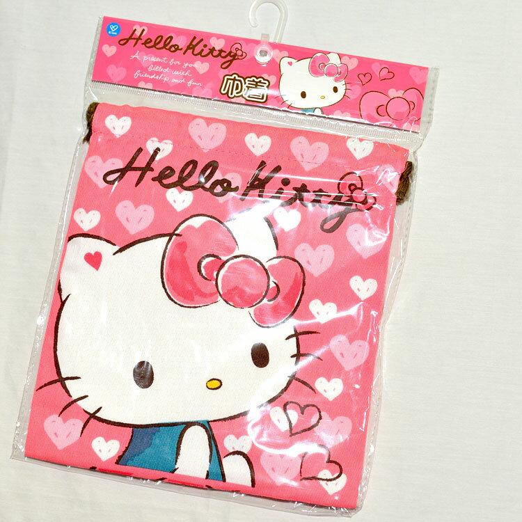 Hello Kitty 束口袋 日本帶回正版商品 綿質