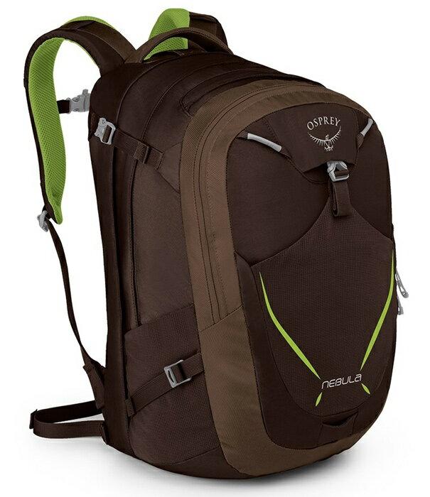 Osprey  美國  NEBULA 34 電腦背包《男款》/15吋筆電背包 城市背包 旅行背包 -蜥蜴綠/Nebula34 【容量34L】