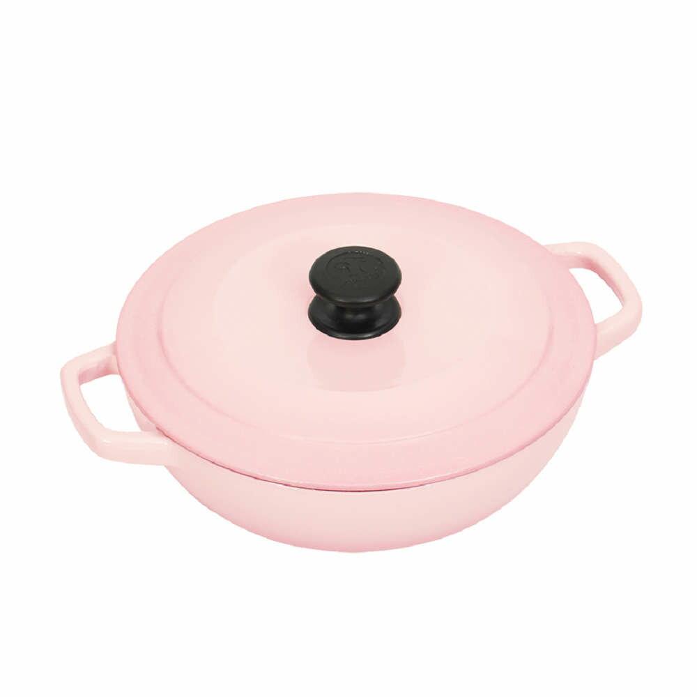 Multee摩堤 25cm鑄鐵媽媽鍋(容量3L 適合3-4人 鑄鐵鍋)