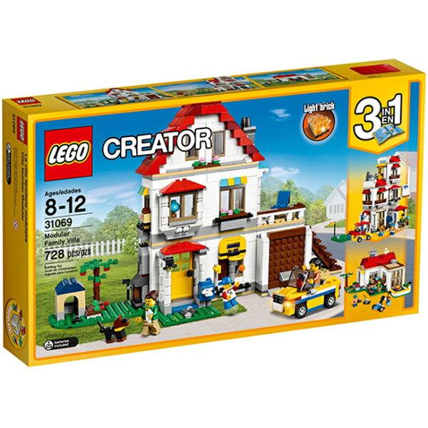 【LEGO樂高積木】Creator創意大師系列-家庭別墅LT-31069