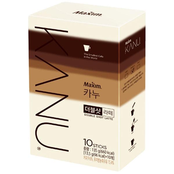 韓國MaximKANU雙倍濃縮拿鐵漸層包裝(13.5gx10入)雙倍拿鐵咖啡沖泡飲品條裝咖啡速溶飲品