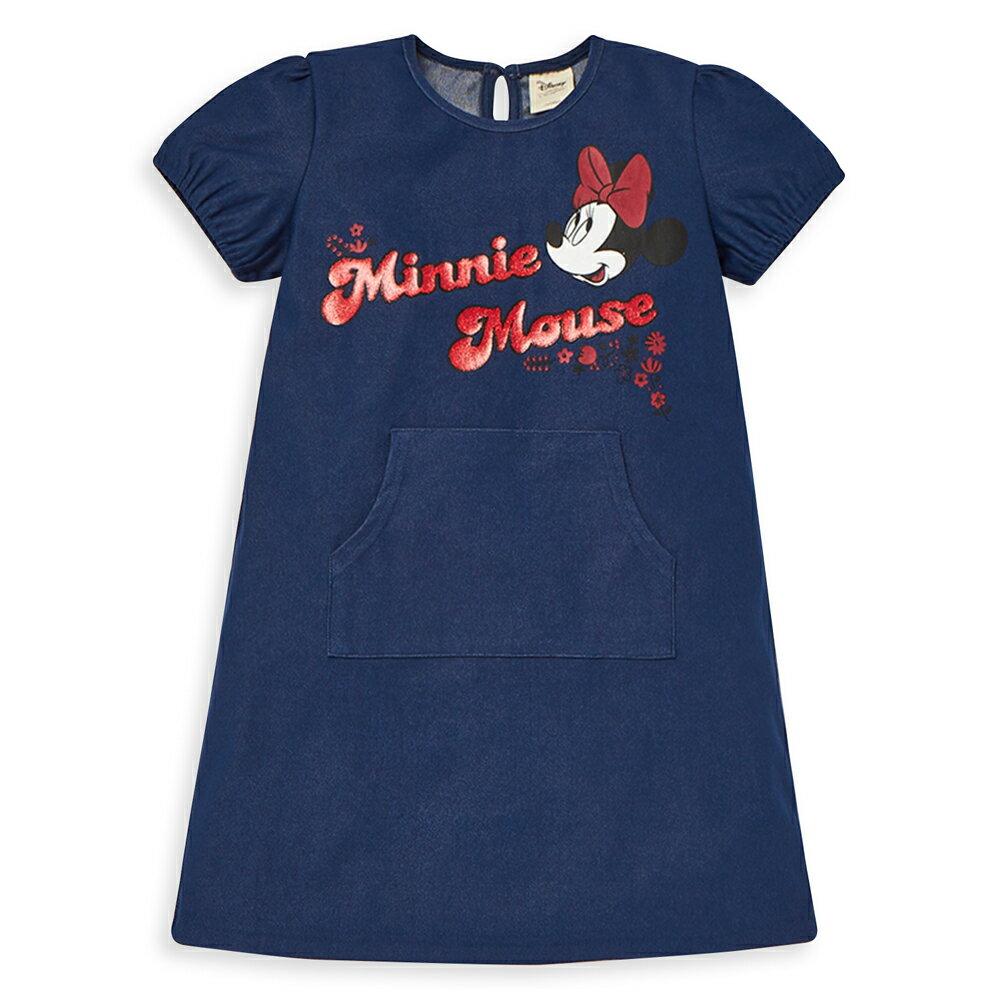 Disney 米妮系列夏日花園口袋洋裝-單寧布藍(好窩生活節) 1