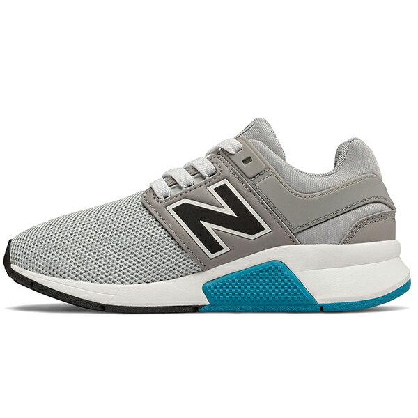 Shoestw【PH247FC】NEW BALANCE NB247 中童鞋 運動鞋 鬆緊帶 免綁帶 襪套 Wide 網布 灰白藍 1