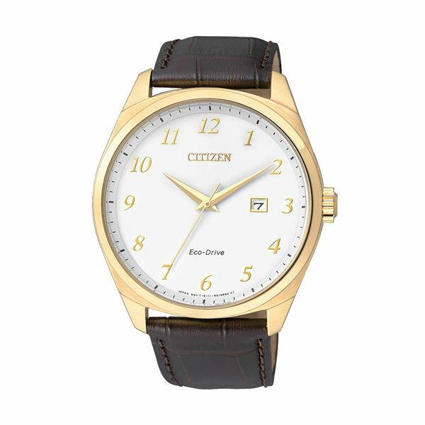 CITIZEN星辰BM7322~06A EO1172~05A簡約紳士光動能腕錶  白面42