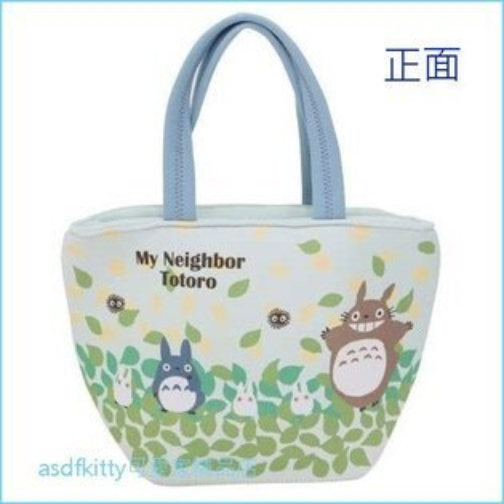 asdfkitty可愛家☆TOTORO龍貓龍貓公車手提袋便當袋購物袋-日本正版商品
