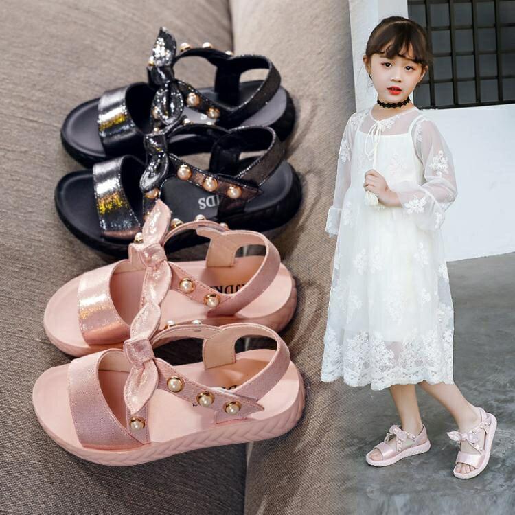 女童涼鞋夏季新款兒童小女孩軟底沙灘時尚中大童公主寶寶童鞋 【快速出貨】