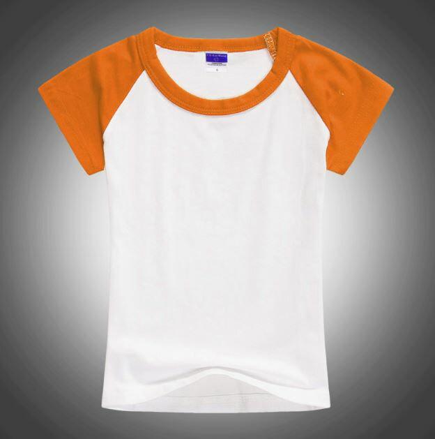 【登瑞體育】兒童基本款空白短袖上衣_DRK006