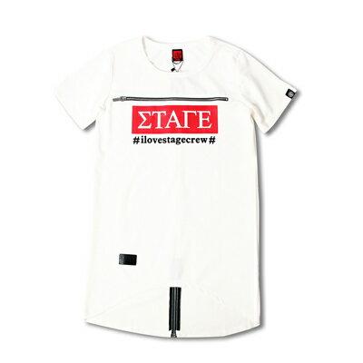 STAGE BOX ZIPPER LONG TOP  白 / 紅 二色(女版) 小豬羅志祥明星潮牌 STAGE CREW 1