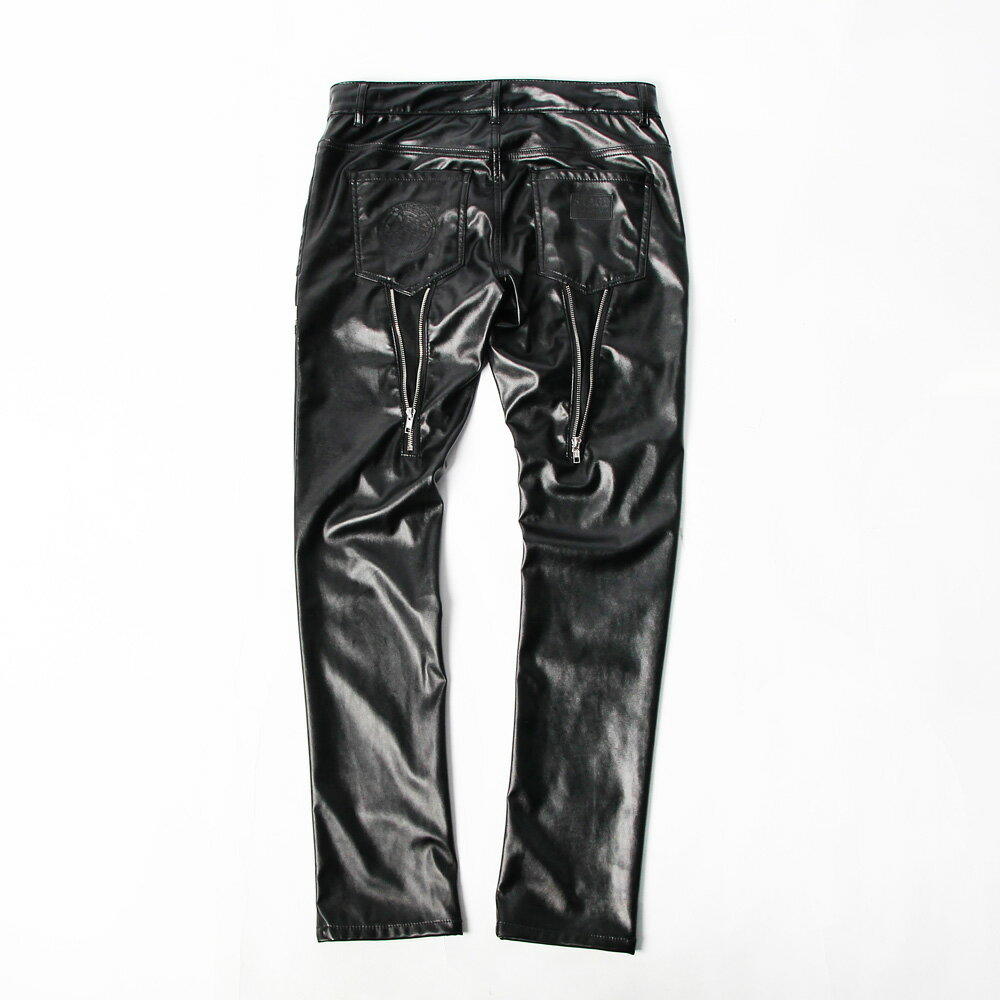 STAGE GOTHIC LEATHER PANTS 黑色 1