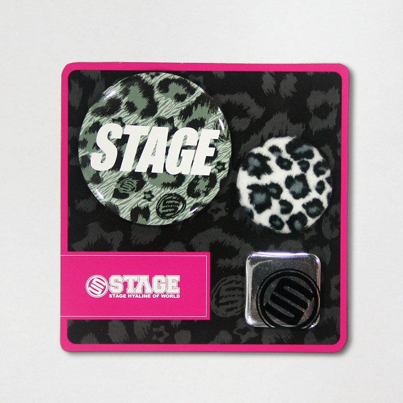 STAGE LEOPARD PIN SET  灰/咖啡/桃紅 1