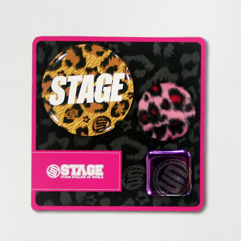 STAGE LEOPARD PIN SET  灰/咖啡/桃紅 0