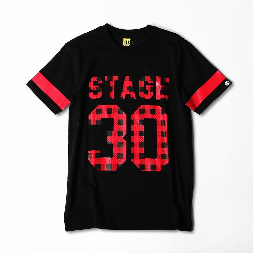 STAGE PLAID TEE  黑色 0