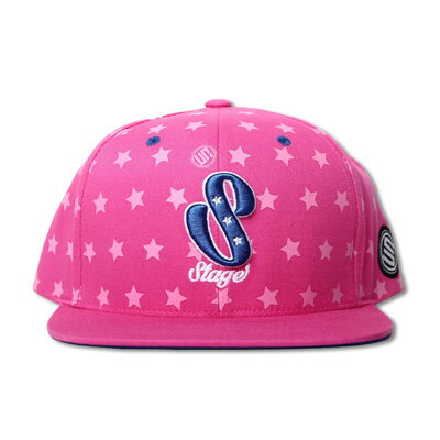 STAGE TALENTS PATTERN SNAPBACK CAP   桃紅/黑  二色 0
