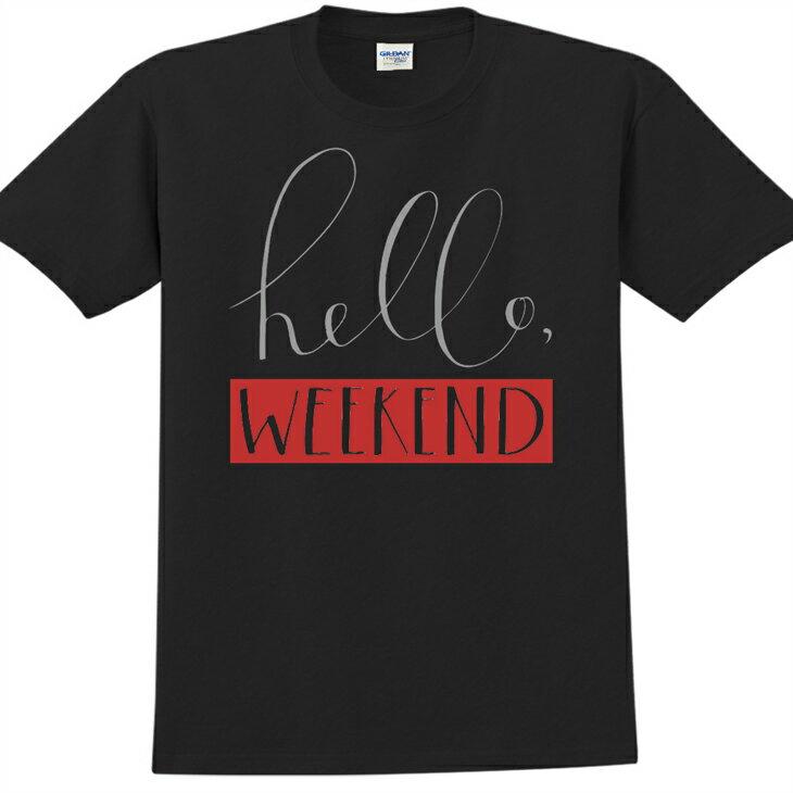 新創設計師- T恤:【Hello weekend】修身短袖 T-shirt ( 黑 ) 850 Collections