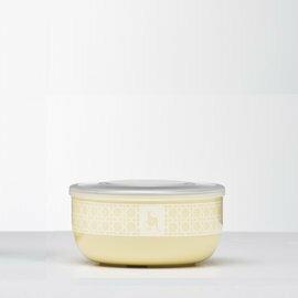 Kangovou 小袋鼠不鏽鋼安全點心碗-檸檬黃【紫貝殼】