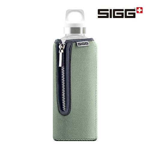SIGG Stella 玻璃水壺+灰綠色 Neoprene 潛水布保護套 0.5L 水壺 保溫瓶 - 限時優惠好康折扣