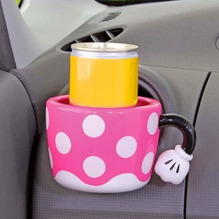 日貨NAPOLEX 正版米妮汽車用飲料架 冷氣孔置物架 水杯架 手機架 迪士尼 米奇【N201112】