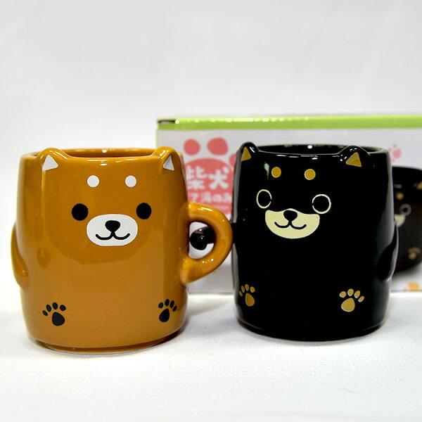 NOBA 不只是禮品:可愛柴犬手牽手馬克杯兩個一組附禮盒日本帶回