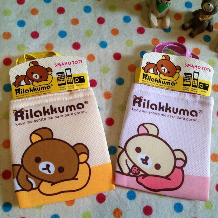 =優生活=【限量款$150】日本正版懶懶熊 拉拉熊 懶妹手機袋掛袋 悠遊卡包 相機包手機套 包包掛袋