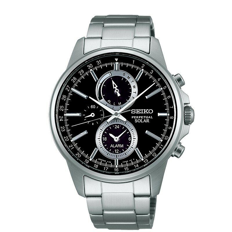 SEIKO SPIRIT SMART太陽能多功能腕錶/V198-0AC0D/SBPJ005J