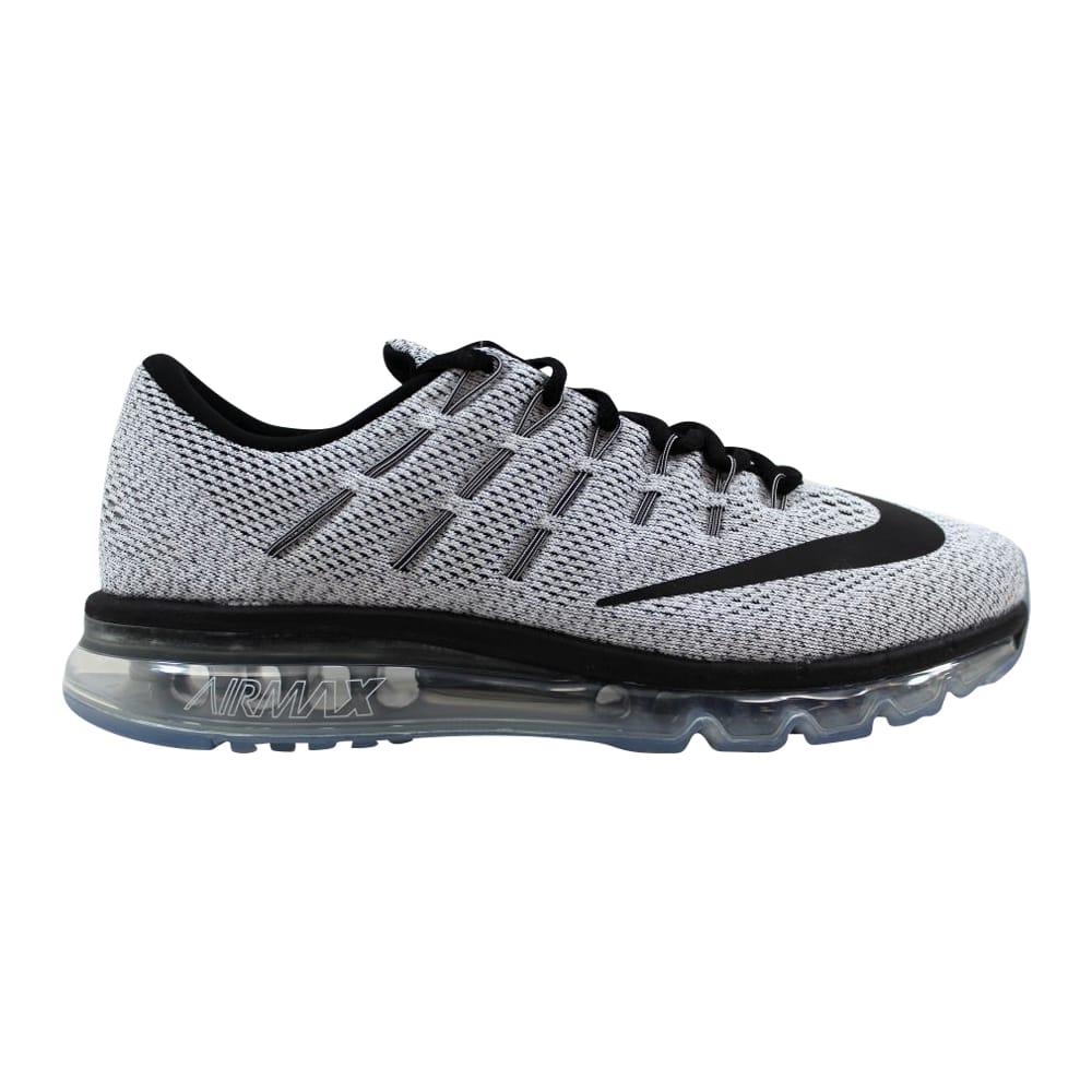 0934a82d0752 Kixrx  Nike Air Max 2016 White Black 806771-101 Men s Size 11.5 ...