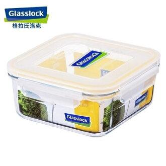 Glass Lock強化玻璃保鮮盒韓國原裝微波便當盒方型1200ml-RP534-大廚師百貨