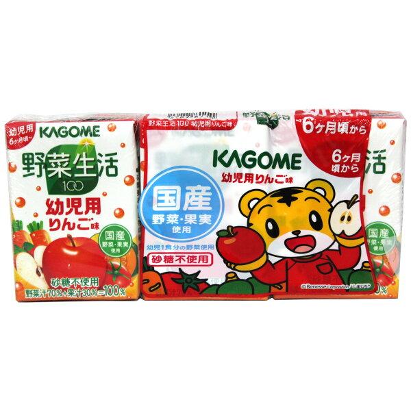 KAGOME可果美巧虎綜合蔬果汁組(100mlx3)300ml