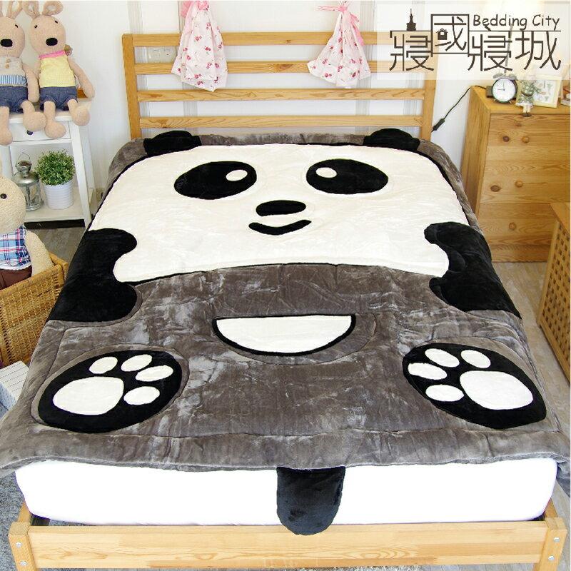 動物造型法蘭絨被毯-竹の熊貓【細緻柔順、極暖、可當棉被使用 】#法蘭絨 #寢國寢城 4