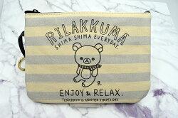 X射線【C214792】懶熊Rilakkuma 時尚手拿包-北極熊,鉛筆盒/筆盒/筆袋/筆筒/文具/收納