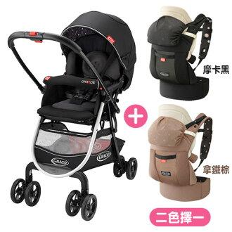 【超值組合】Graco 購物型雙向嬰幼兒手推車 城市商旅 CITIACE CTS-小花朵+腰帶型CTS系列揹巾x1【悅兒園婦幼生活館】
