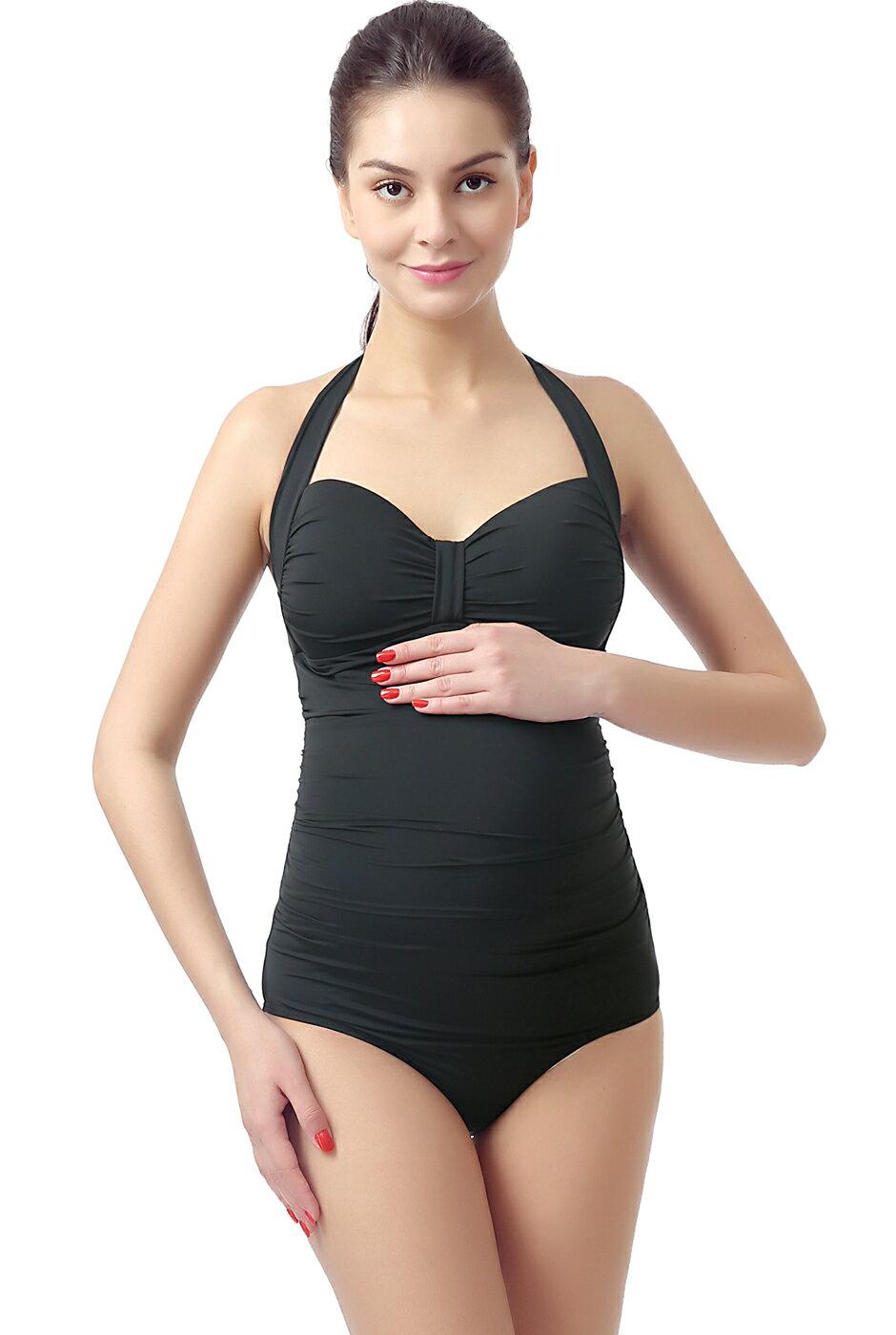 2a3d1676f6f55 Luxury Lane: Momo Maternity UPF 50+ One Piece Halter Swimsuit ...