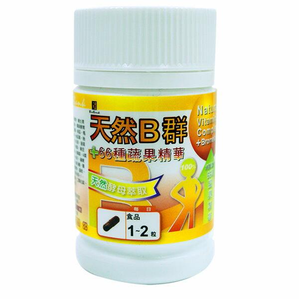 宏醫 天然B群66種酵素(30顆/瓶) 效期2019.06【淨妍美肌】
