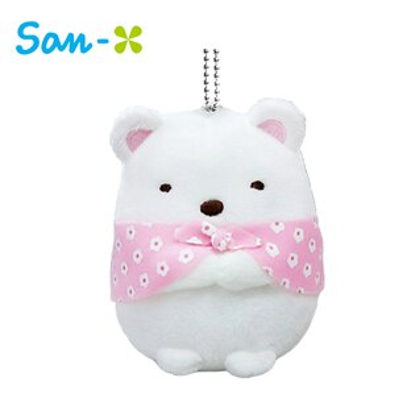 北極熊款【日本正版】角落生物布偶吊飾娃娃角落小夥伴San-X-405724