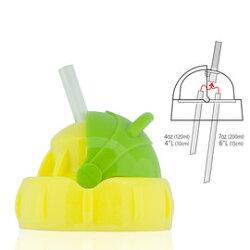 【淘氣寶寶】Pacific Baby 美國學習吸管杯蓋 (亮亮綠)