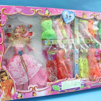 芭比娃娃 + 20件衣服+配件 洋洋娃NO.6120C/一盒入{促399}~創~ST安全玩具